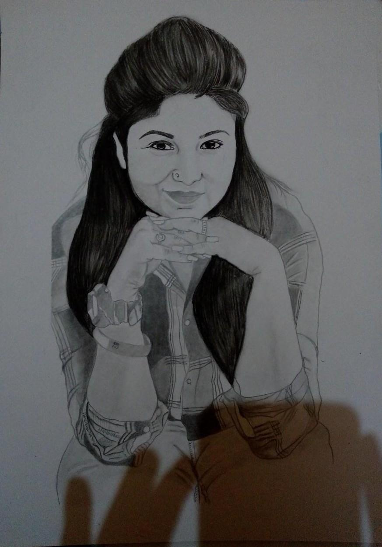 handmade pencil sketch from photos