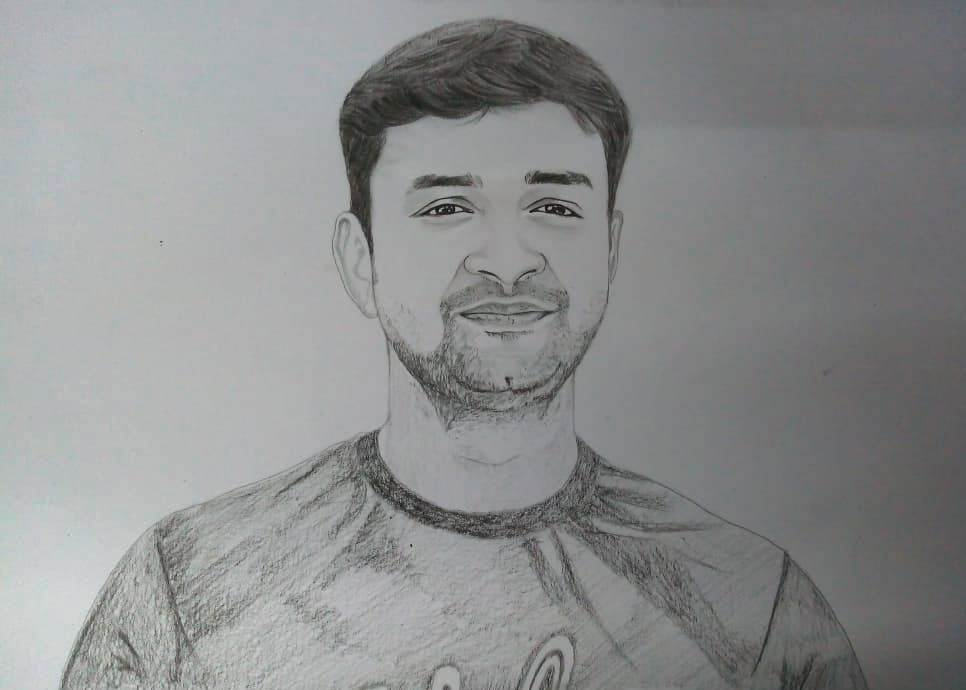 pencil sketch from photo